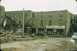 Name: Rear of the Colonial Hotel following the tornado of 21 May 1953 by snap-happy1.jpg    