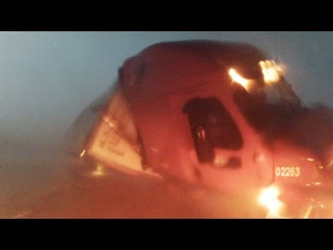 Semi Trailer Flipped by El Reno EF5 Tornado -...